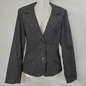 Nanette Lepore Black Cotton Blazer